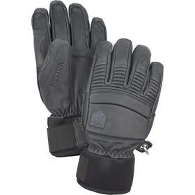 Hestra Leather Fall Line 5 fingerhandsker, grå